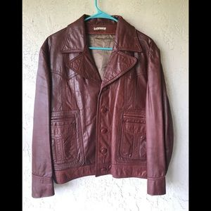 Gorgeous vintage  distressed leather jacket M-L